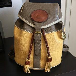 VTG Dooney Bourke Teton Drawstring Backpack-RARE!